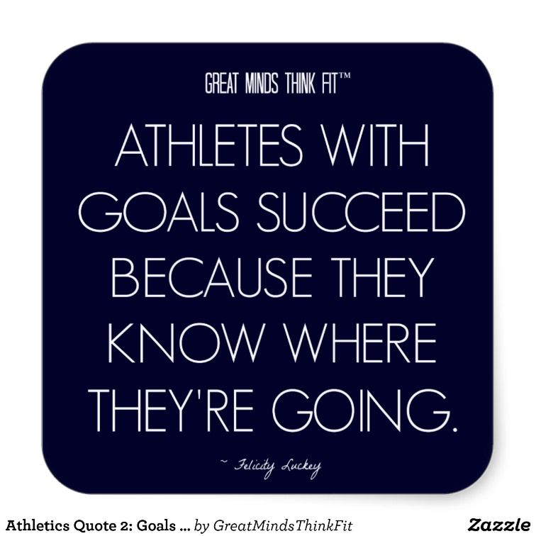 Athletes long term goals