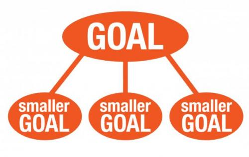 How to break long term goals into smaller goals