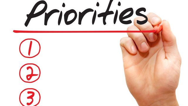 Priority list for long term goals