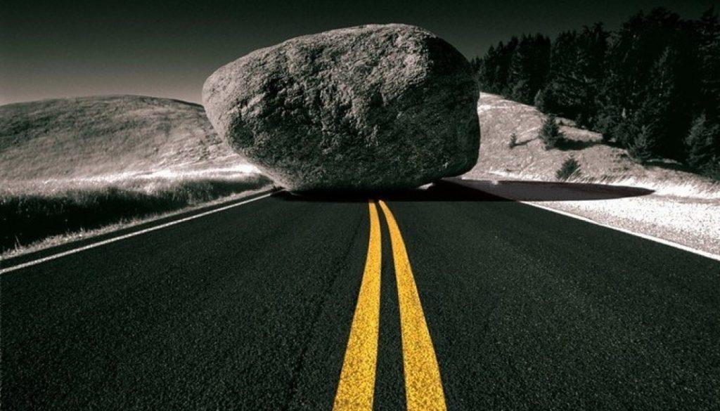 Rock road obstacles