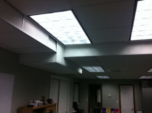 Overhead lighting for a  personalized workplace for maximum productivity