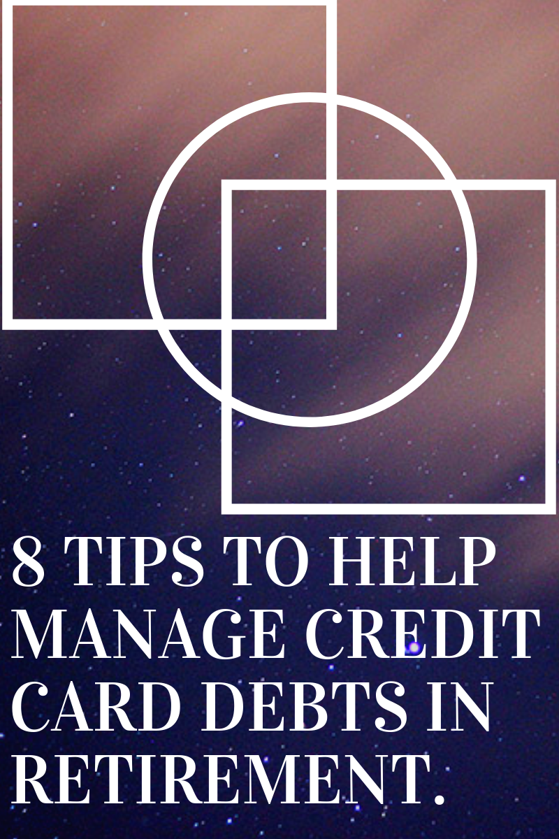 manage credit card debts retirement