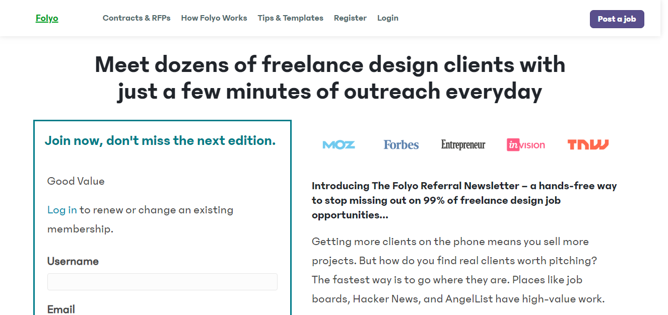 Folyo.me job design website