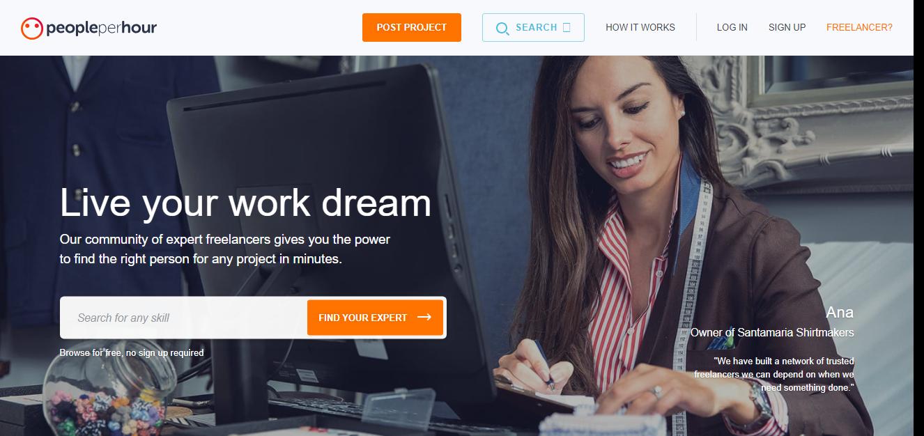 PeoplePerHour job site