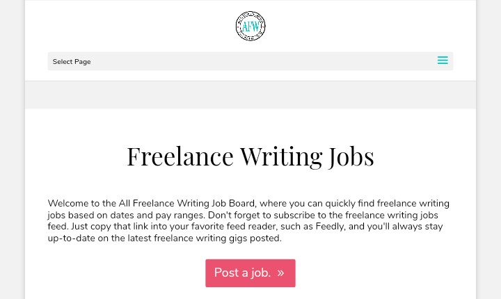 All Indie writing job board