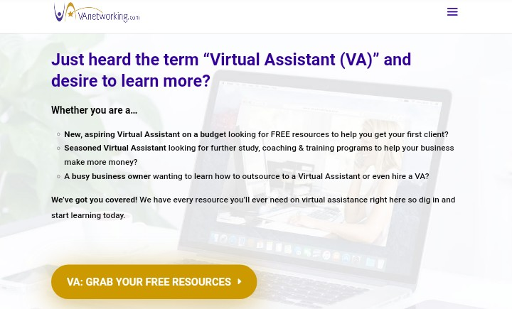 Freelance jobs websites VA networking