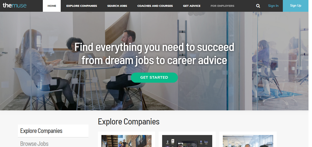 Freelance jobs website - The Muse