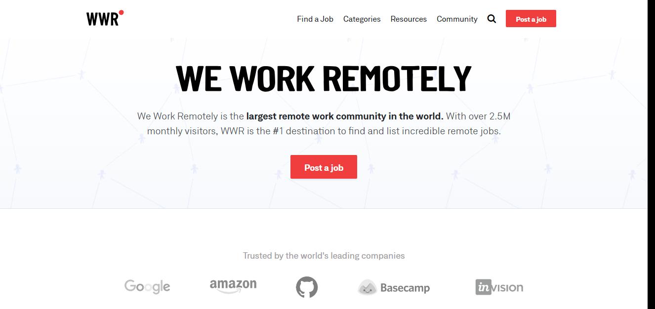 we work remotely freelance jobs