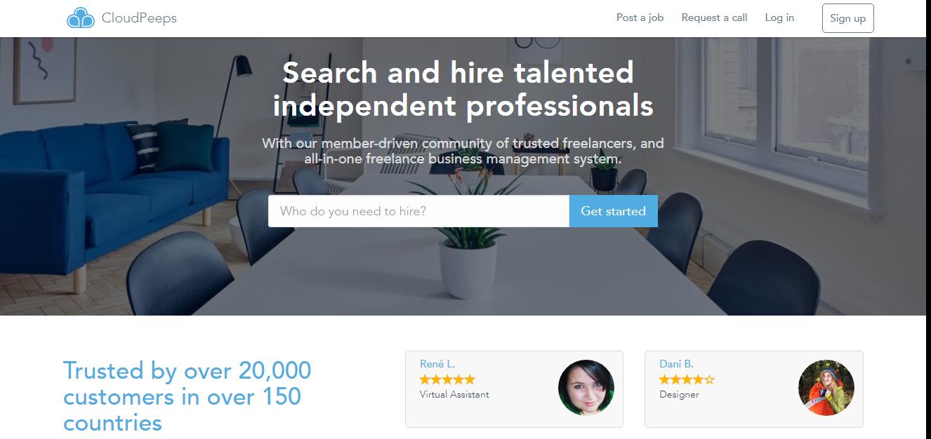 Freelance jobs websites Cloudpeeps