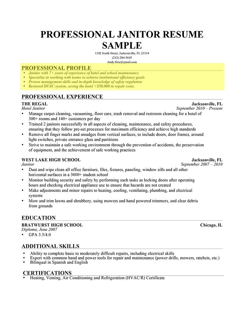 Land your dream job out of University resume profile