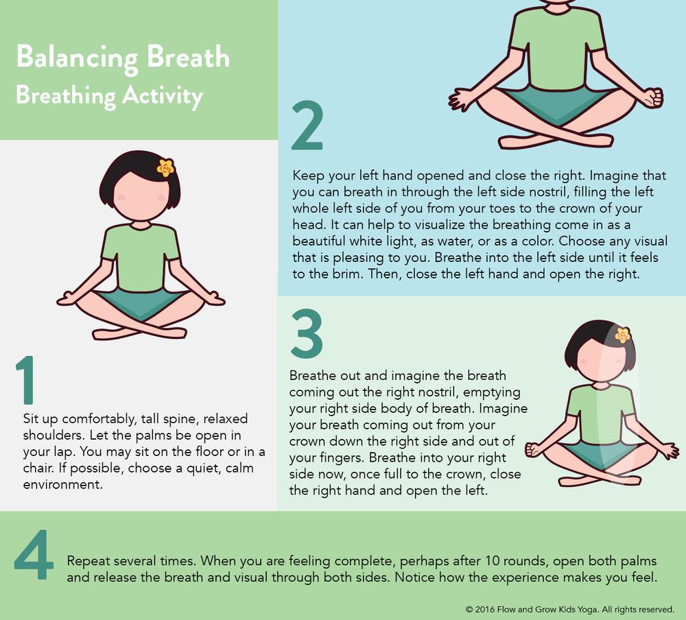 Mindful balanced breathing exercises