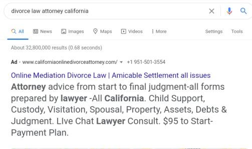 Law attorney california