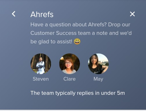 Ahrefs chat box
