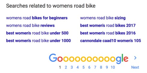 Long tail search results